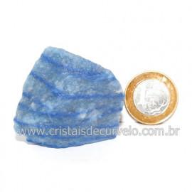 Quartzo Azul ou Aventurina Azul Bruto Natural Cod 123197