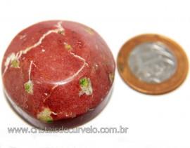 Massageador Cabochão Quartzo Vermelho Pedra Natural Cod 111079