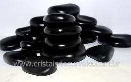 Kit massagem reflexologia podal 8 pedras vulcânicas basálticas seixo