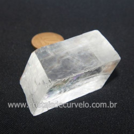 Calcita Otica Branca Rara Pedra Bruto Natural Cod 121597