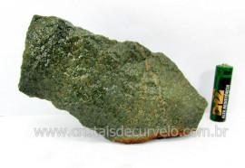 Basalto Verde Bruto Pedra Pra Colecionador ou Estudante de Minerais Geologia Cod 528.0