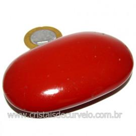 Sabonete Massageador Jaspe Vermelho Pedra Natural Cod 114303