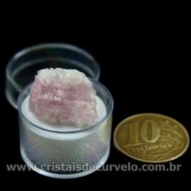 Turmalina Rosa Bruta Pedra Natural No Estojo Cod 126957