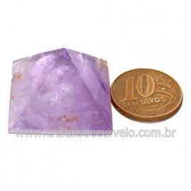 Piramide Ametista Chevron Pedra Natural Base Queops Cod123905