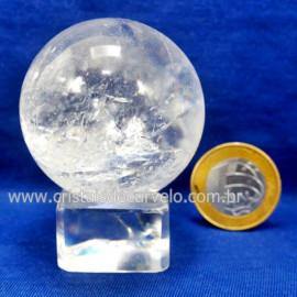 Bola Cristal Boa Qualidade Esfera Pedra Natural Cod 127559