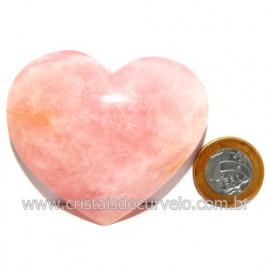 Coração Pedra Quartzo Rosa Natural Pedra do Amor Cod 119128