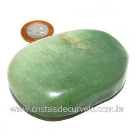 Massageador De Seixo Pedra Quartzo Verde Natural Cod 123845