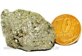 Pirita Natural Pedra Comum Cubos Cor Ouro a Cinza Cod 102980