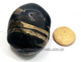 01 Onix Preto Rolado Familia do Quartzo Calcedonia Reff OP9889