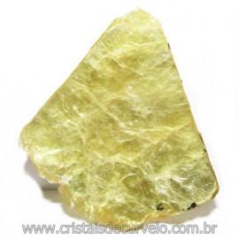 Chapa de Mica Amarela Bruta Natural de Garimpo Cod 115600