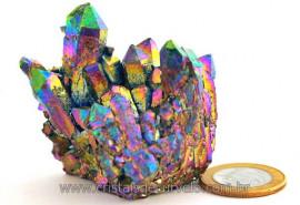 Drusa Crystal Aura Arco-Iris ou Titaniun Bruto Cod AI7546