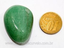 01 Quartzo Verde Rolado Pedra Natural de Garimpo Esoterismo Colecionador Reff 18.9