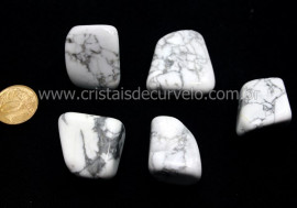 05 Howlita Rolado Pedra Natural de Garimpo Esoterismo Colecionador Ref 49.8