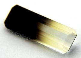 Gema Quartzo Bi Color Pedra Natural Montagem Joia Cod QB1566