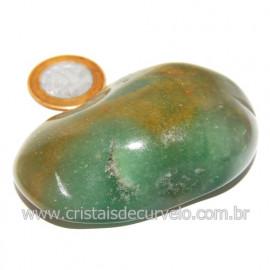 Massageador De Seixo Pedra Quartzo Verde Natural Cod 123850