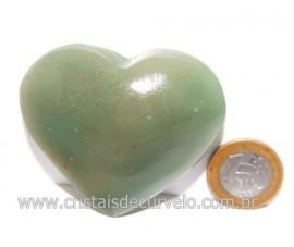 Coração Quartzo Verde Natural Comum Qualidade Cod 119840
