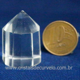 Voguel Cristal 01 Ponta Pedra Natural 12 Facetas Cod 123398