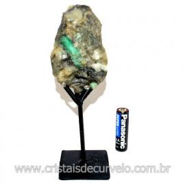 Esmeralda Canudo Pedra Natural com Suporte De Ferro Cod 119356