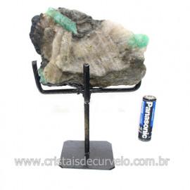 Esmeralda Canudo Pedra Natural com Suporte De Ferro Cod 121531