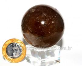 Esfera Pedra Fumê Murian Bola Natural de Garimpo Cod EM6170