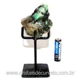 Esmeralda Canudo Pedra Natural com Suporte De Ferro Cod 119350