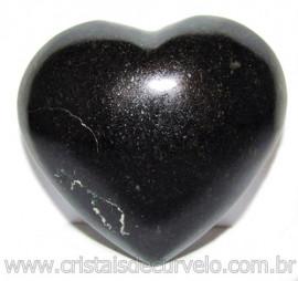 Coraçao Quartzo Preto Quartzito Negro Natural Cod 115338