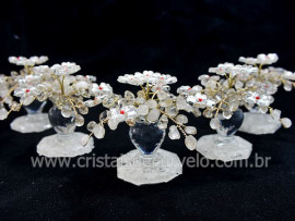 04 Arvore Primavera Pedra Rolada Quartzo Cristal REFF AJ7824