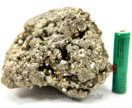 Pirita Peruana Pedra Extra Com Belos Cubo Mineral Cod 111084