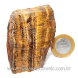 Olho de Tigre Pedra Extra Bruto Natural da África Cod 121210