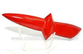 Adaga ou Athame Faca Pedra Natural Jaspe Vermelho Cod AF5146