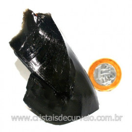 Obsidiana Negra Mineral Vulcanico Pedra Natural Cod 123979