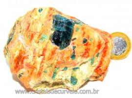 Apatita Azul Pedra na Matriz Bruta Pra Esoterismo Cod AM9746