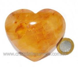 Coração Hematoide Amarelo Natural Presente Ideal Cod 116029