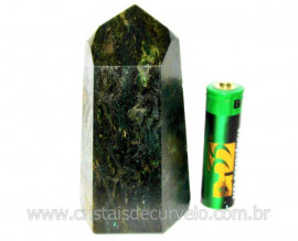 Ponta Fuxita Verde Pedra Natural Mineral Garimpo Cod PF3339