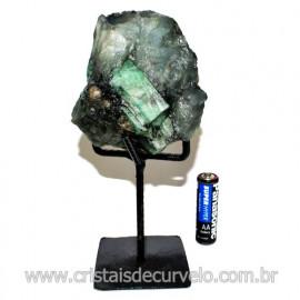 Esmeralda Canudo Pedra Natural com Suporte De Ferro Cod 119331