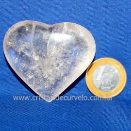 Coração Cristal Comum Qualidade Natural Garimpo Cod 126250