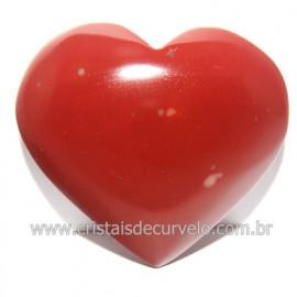 Coraçao Jaspe Vermelho Pedra Natural de Garimpo Cod 118267
