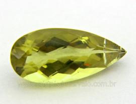Gema Green Gold Gota Pedra Natural Montagem Joias Cod GG5560