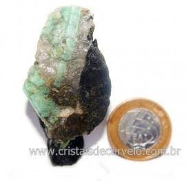 Esmeralda Canudo Incrustado Matriz Xisto Pedra Natural Cod 121319