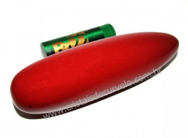 Massageador Roliço Jaspe Vermelho Pedra Terapêutica Cod 102401