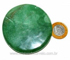 Massageador Disco Quartzo Verde Pedra Natural Cod 103308