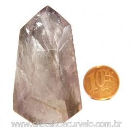 Ponta Prasiolita ou Ametista Verde Pedra Natural Cod 117644