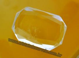 Cristal Gema Facetado Pedra Quartzo Cristalino Para Montagem de Joias Finas  Cod 34.5