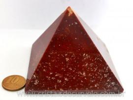 Piramide Quartzo Vermelho Baseada Queops Pedra Comum Lapidado Manual Cod 359.5