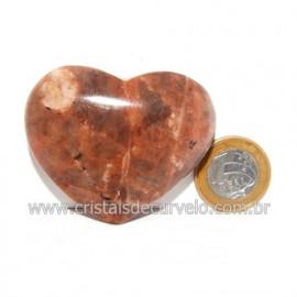 Coração Amazonita Pêssego Pedra Natural de Garimpo Cod 119045