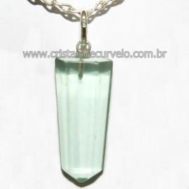 Pingente Pontinha Obsidiana Verde Prata 950 Reff 109903