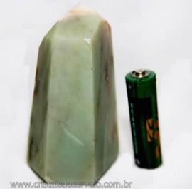 Ponta Pirofilita Verde Gerador Pedra Com Dendrita Cod 101499