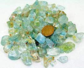 Topazio Azul Medio Pedra Rolado Pacotinho 100 Gr Mineral Natural