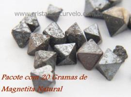 Magnetitas Pacote com 20 Gramas Mineral Natural Para Coleção Pedras Naturais Cod 20