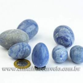 Ovo YONI Pedra Quartzo Azul SEM FURO Pompoarismo DEFEITO LEIA TODO ANUNCIO